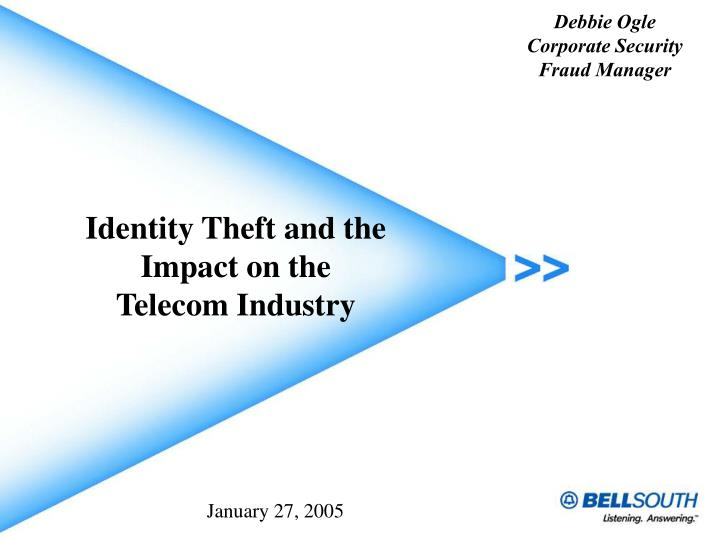 identity theft and the impact on the telecom industry