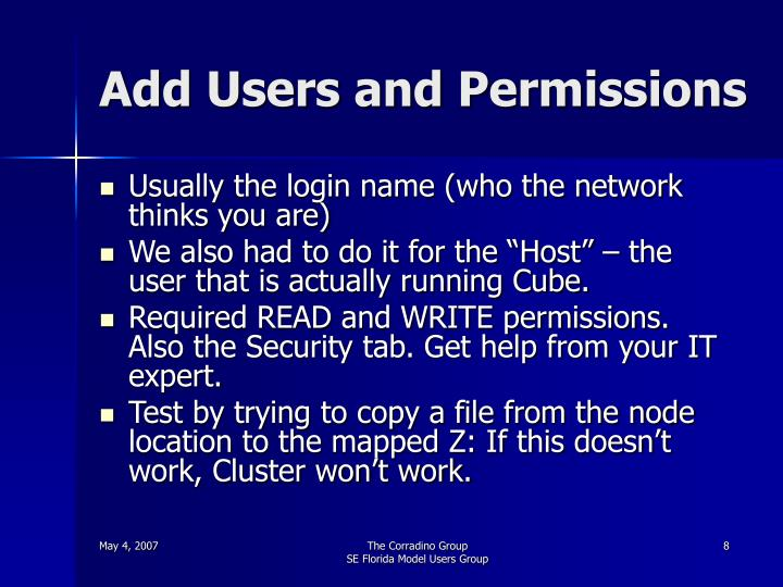 Add Users and Permissions