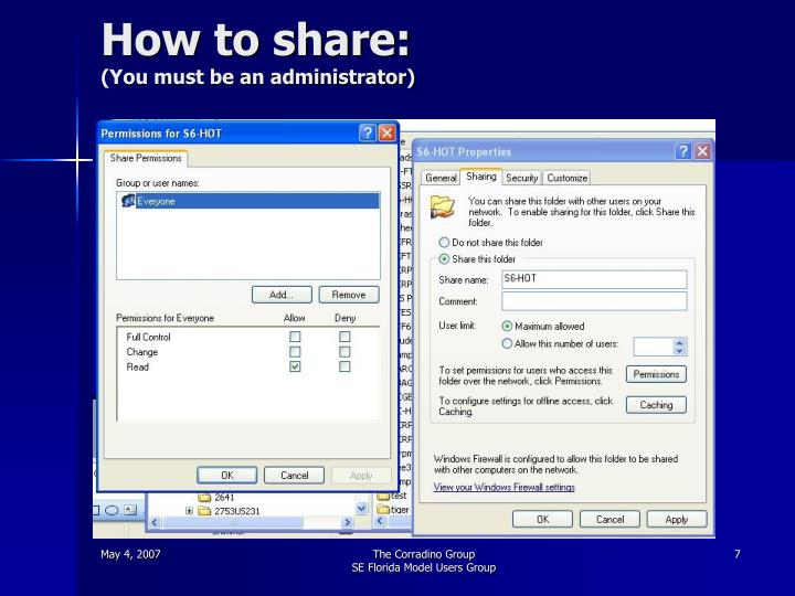 How to share: