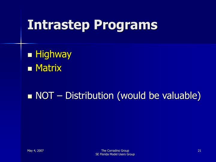 Intrastep Programs