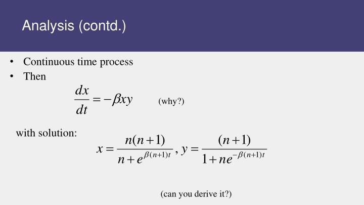 Analysis (contd.)