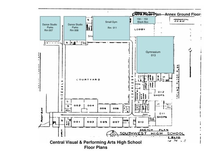 CVPA Floor Plan—Annex Ground Floor