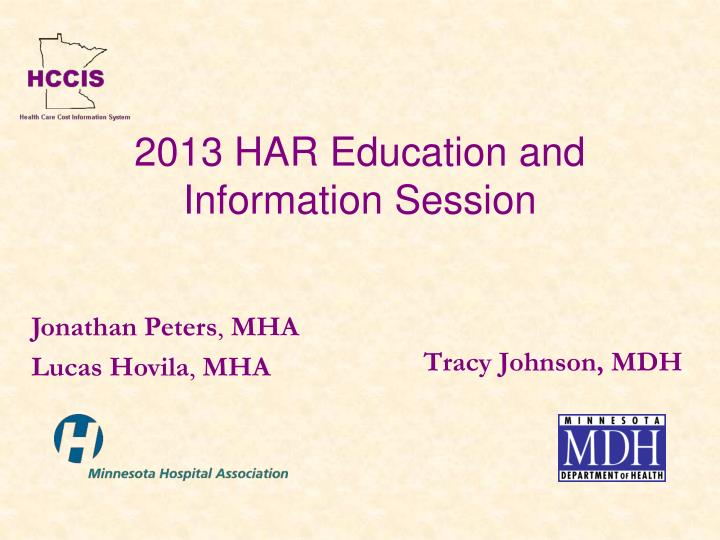 2013 har education and information session n.