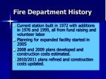 fire department history