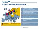 nordea the leading nordic bank