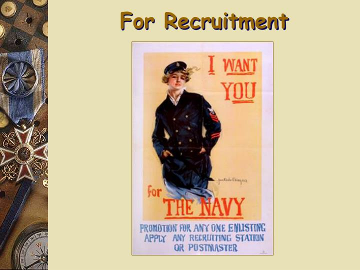 For Recruitment