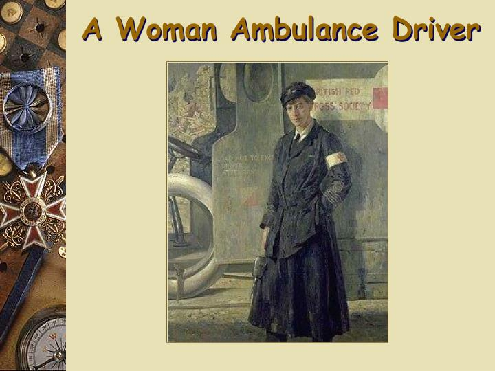 A Woman Ambulance Driver