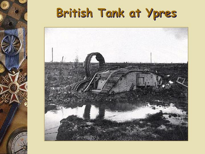 British Tank at Ypres