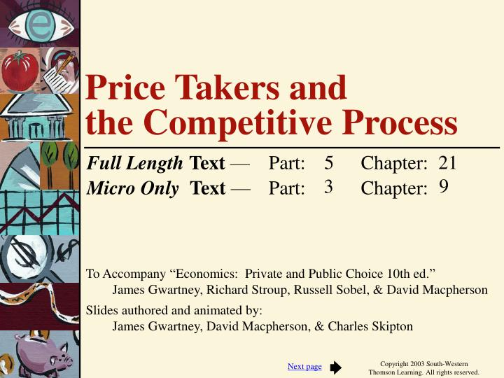 price takers and the competitive process n.