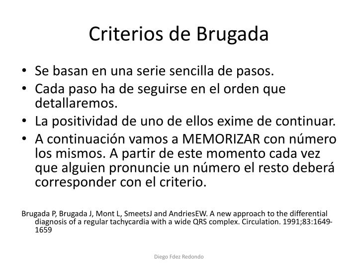 Criterios de Brugada