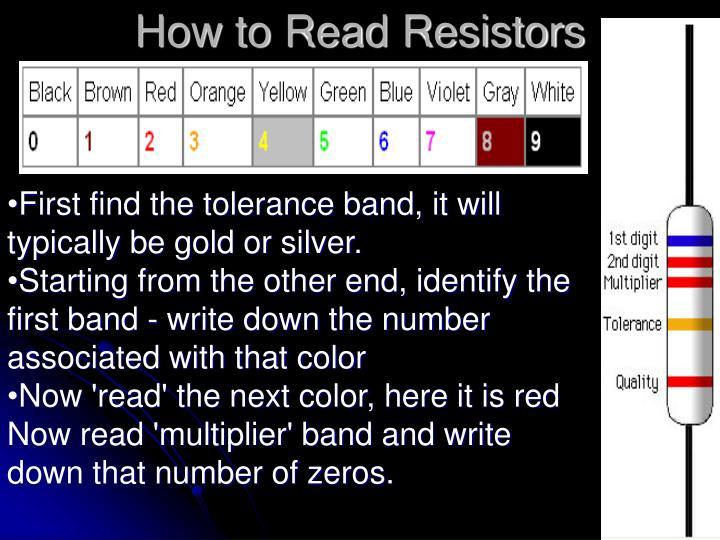 How to Read Resistors