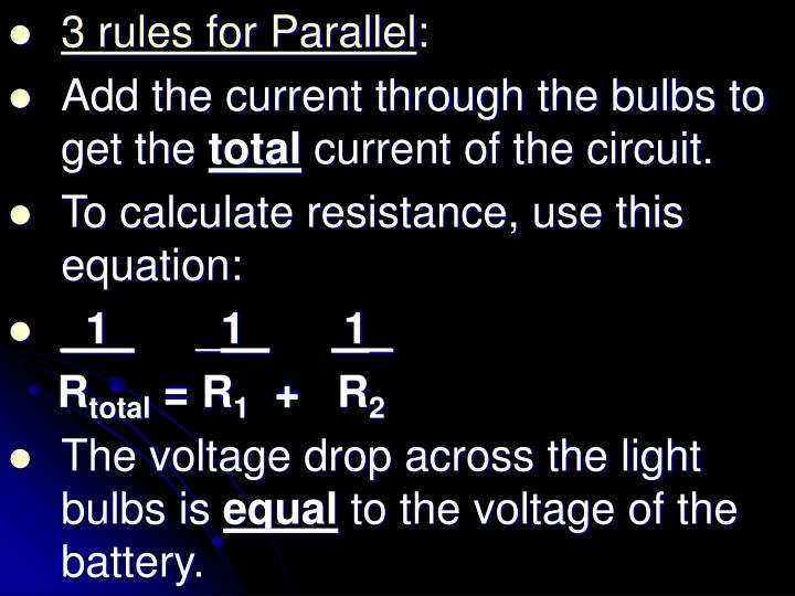 3 rules for Parallel