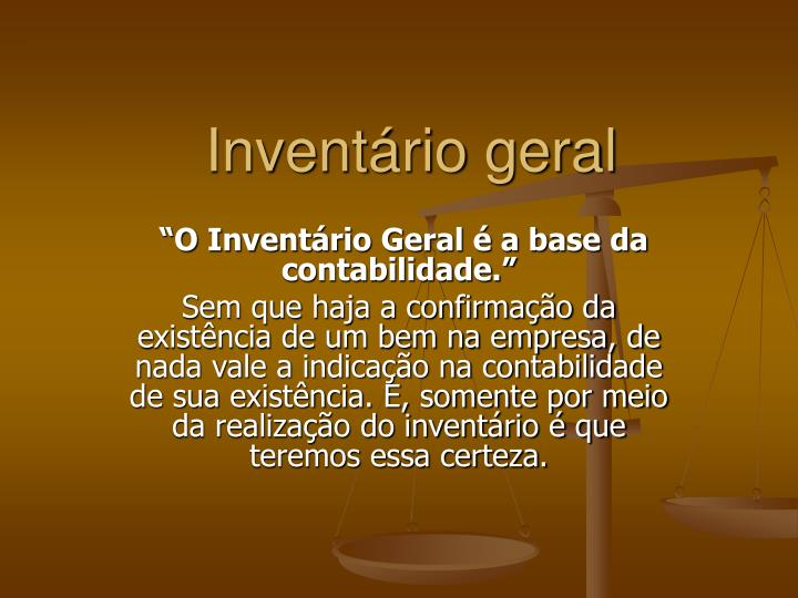 invent rio geral n.