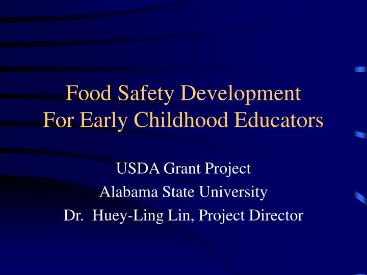 food safety development for early childhood educators n.