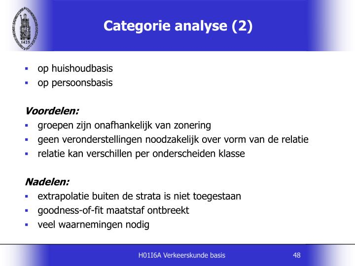 Categorie analyse (2)