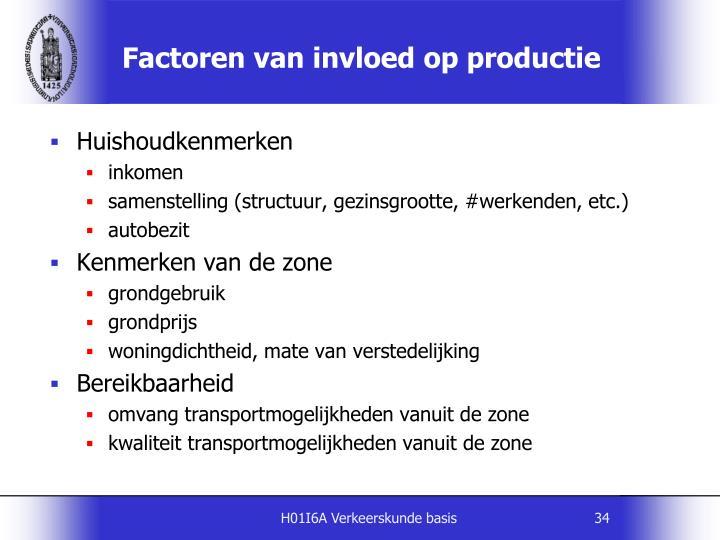 Factoren van invloed op productie