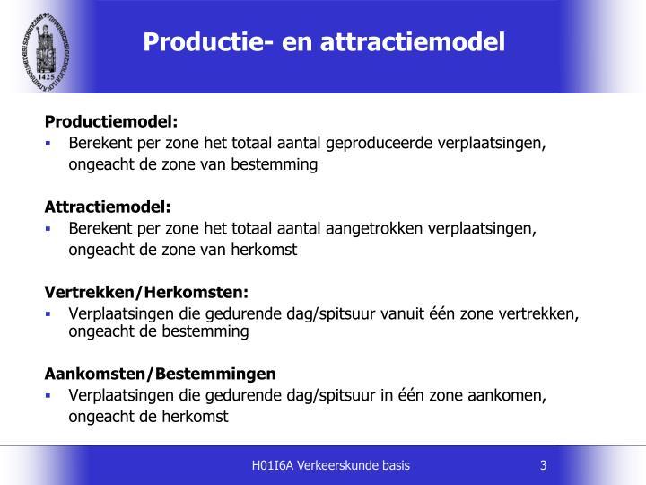 Productie en attractiemodel