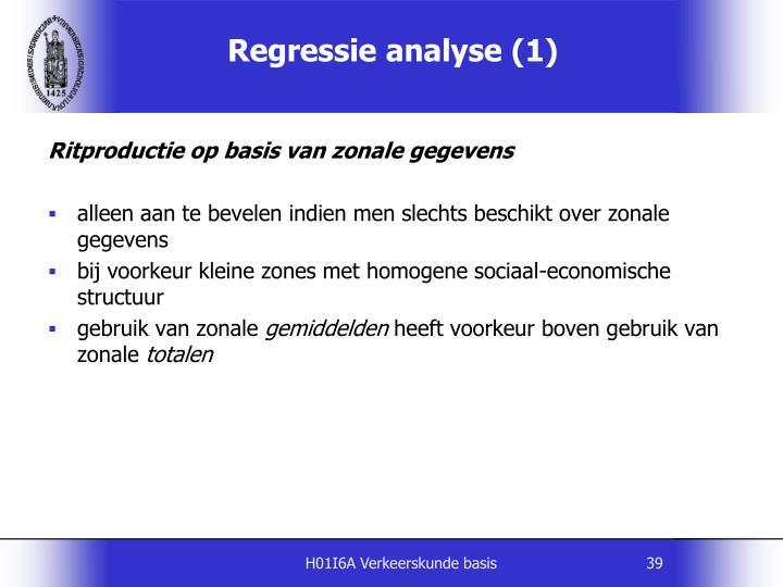 Regressie analyse (1)