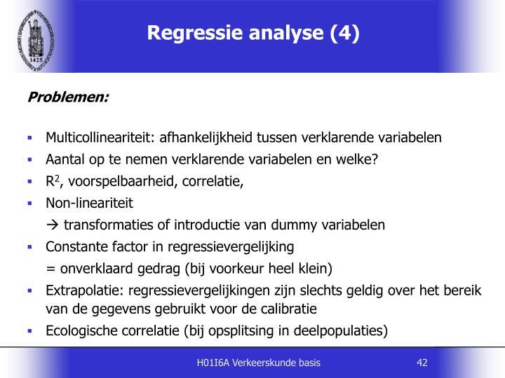 Regressie analyse (4)