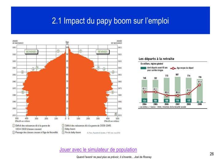 2.1 Impact du papy boom sur l'emploi