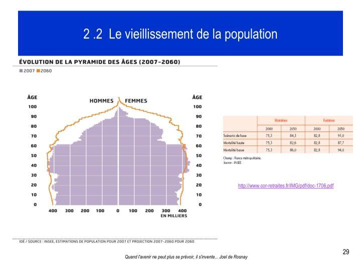 2 .2  Le vieillissement de la population
