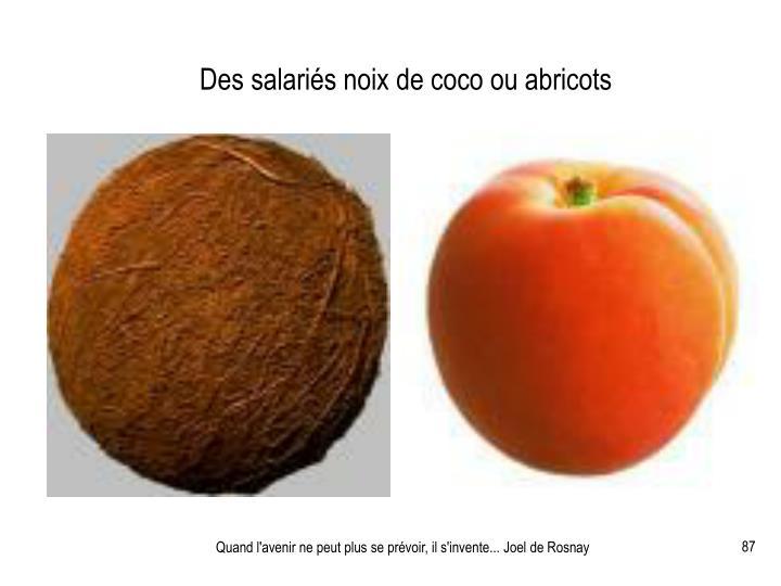 Des salariés noix de coco ou abricots