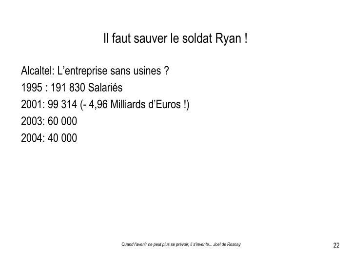 Il faut sauver le soldat Ryan !