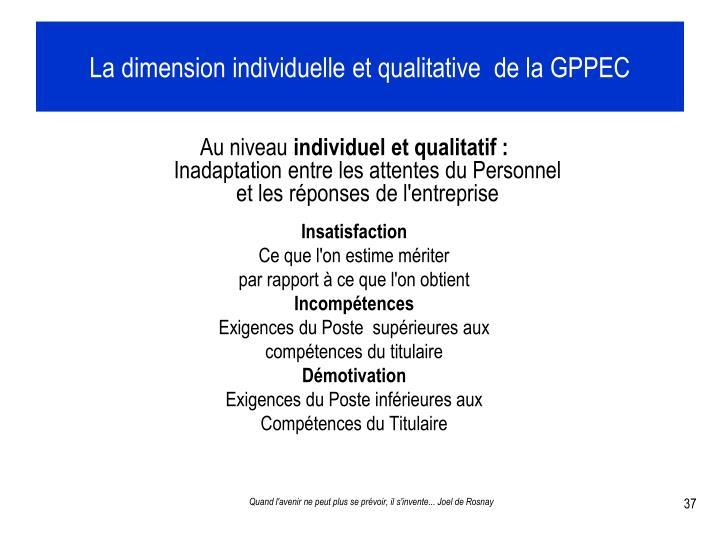 La dimension individuelle et qualitative  de la GPPEC