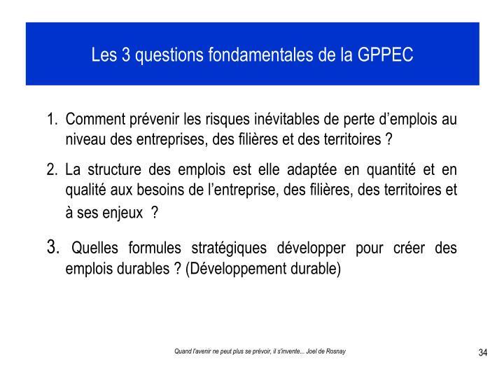 Les 3 questions fondamentales de la GPPEC