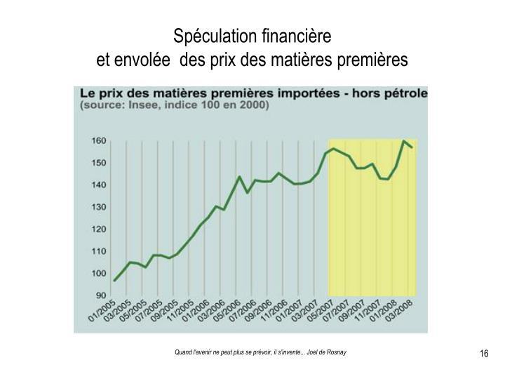 Spéculation financière