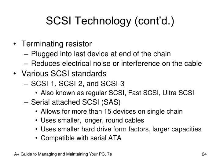 SCSI Technology (cont'd.)