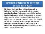 strategia jude ean de asisten social 2014 2018