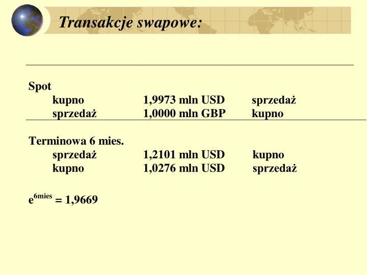 Transakcje swapowe: