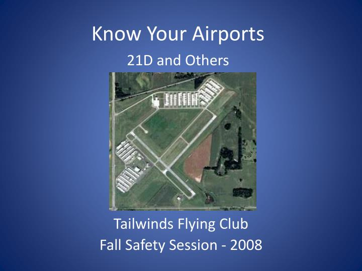 tailwinds flying club fall safety session 2008 n.