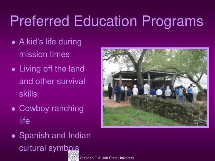 Preferred Education Programs