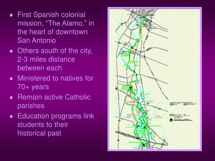 """First Spanish colonial mission, """"The Alamo,"""" in the heart of downtown San Antonio"""