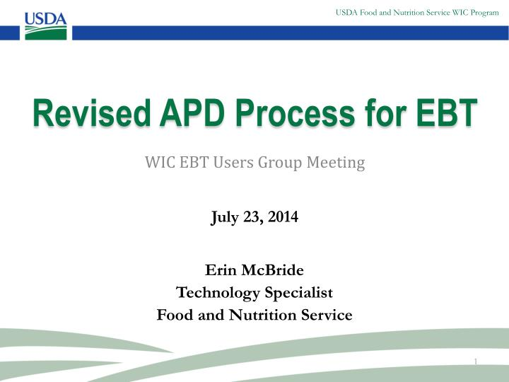 revised apd process for ebt n.