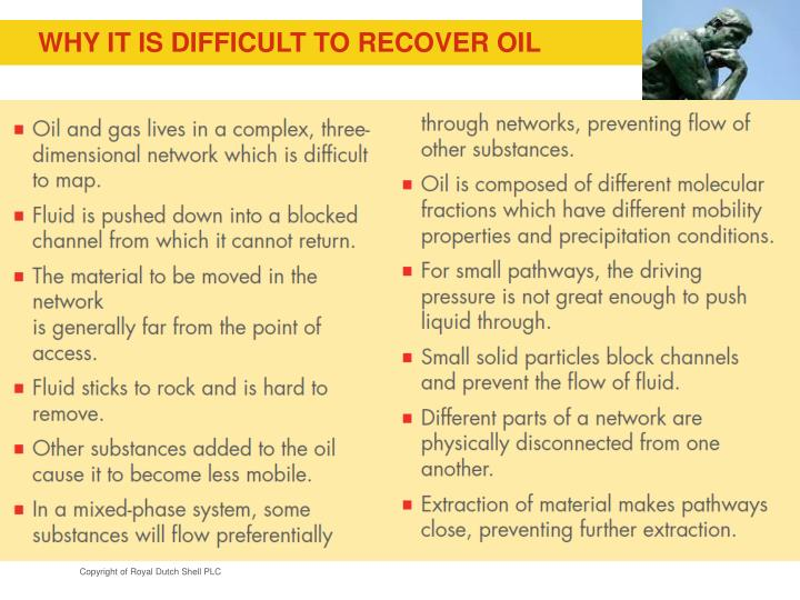 why it is difficult to recover oil n.