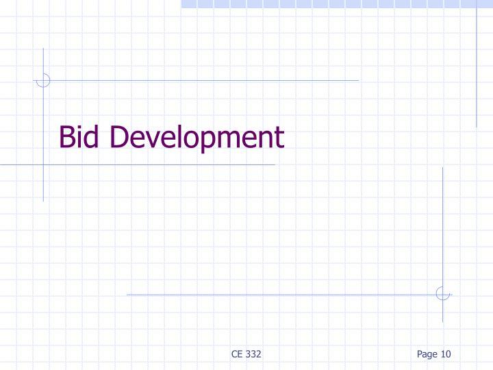Bid Development