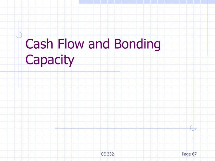 Cash Flow and Bonding Capacity