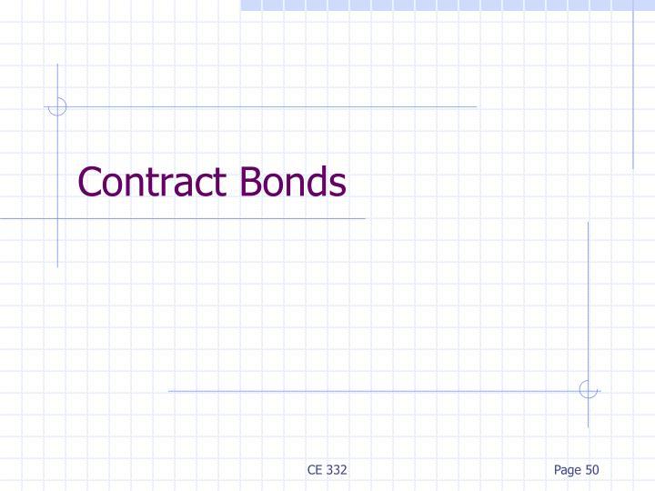 Contract Bonds