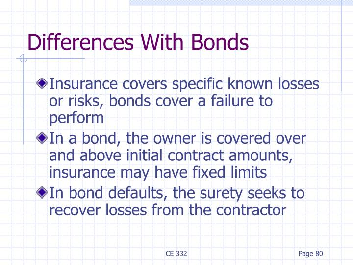 Differences With Bonds