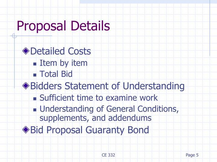 Proposal Details