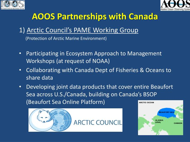 aoos partnerships with canada n.