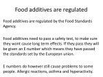 food additives are regulated