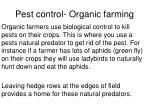 pest control organic farming