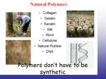 polymers don t have to be synthetic