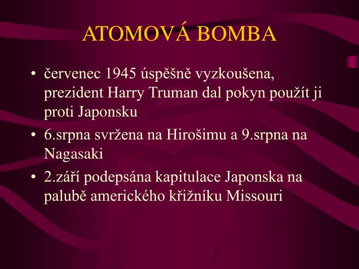 ATOMOVÁ BOMBA