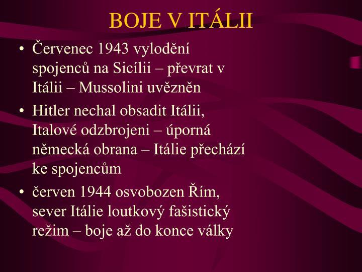 BOJE V ITÁLII