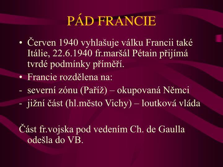 PÁD FRANCIE